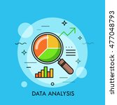thin line flat design of data... | Shutterstock .eps vector #477048793