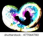 multicolored heart lovely... | Shutterstock . vector #477064783