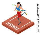 isometric sports for peoples... | Shutterstock .eps vector #477071977
