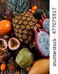 exotic fruits | Shutterstock . vector #477075517