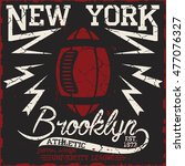 new york sport wear typography... | Shutterstock . vector #477076327