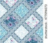 seamless floral pattern.... | Shutterstock .eps vector #477096073