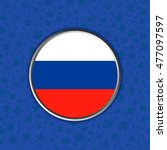 flag of russia in web button...   Shutterstock .eps vector #477097597