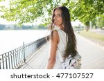 beautiful portrait smiling... | Shutterstock . vector #477107527