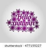 papercut template  'hello... | Shutterstock .eps vector #477155227