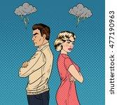 family quarrel   unhappy young...   Shutterstock .eps vector #477190963