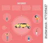 car repair infographics design... | Shutterstock .eps vector #477195637