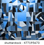 carpet from different pieces of ... | Shutterstock . vector #477195673