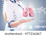 double exposure  doctor with... | Shutterstock . vector #477216367