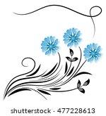 decorative floral corner... | Shutterstock .eps vector #477228613