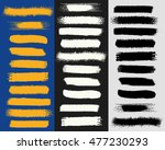 a collection of grungy vector... | Shutterstock .eps vector #477230293