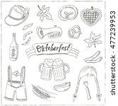 october fest doodle set.... | Shutterstock .eps vector #477239953