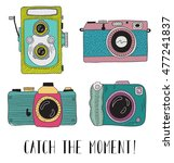 photo cameras with lettering  ... | Shutterstock .eps vector #477241837