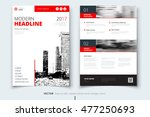 red brochure modern cover... | Shutterstock .eps vector #477250693