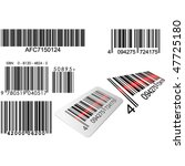 bar codes in different styles... | Shutterstock .eps vector #47725180