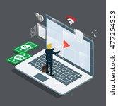 computer maintenance | Shutterstock .eps vector #477254353
