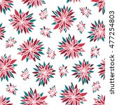 seamless pattern with flowers...   Shutterstock .eps vector #477254803