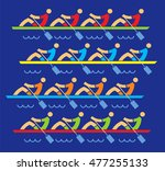 rowing race. four rowing... | Shutterstock .eps vector #477255133