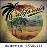 california beach surf club... | Shutterstock . vector #477257983