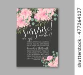 wedding invitation or card with ... | Shutterstock .eps vector #477264127