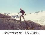 exit glacier  kenai fjords...   Shutterstock . vector #477268483