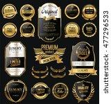 golden sale labels retro... | Shutterstock .eps vector #477296533
