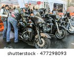 bikers have their motorbikes.... | Shutterstock . vector #477298093