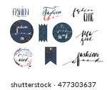 hand drawn vector template... | Shutterstock .eps vector #477303637