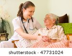 a young doctor   nurse visiting ... | Shutterstock . vector #47731024