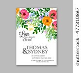 wedding invitation or card with ... | Shutterstock .eps vector #477310867