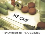 we care. treatment and... | Shutterstock . vector #477325387