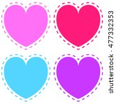 colored heart shapes set  heart ... | Shutterstock .eps vector #477332353