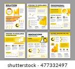 vector set of corporate... | Shutterstock .eps vector #477332497