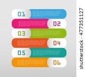 modern info graphic options... | Shutterstock .eps vector #477351127