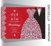wedding invitation or card with ... | Shutterstock .eps vector #477351343