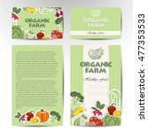 vegetable card template. | Shutterstock .eps vector #477353533