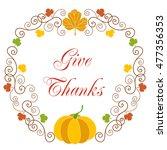 happy thanksgiving. greeting... | Shutterstock . vector #477356353