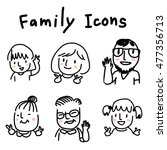 set of people faces. family... | Shutterstock .eps vector #477356713