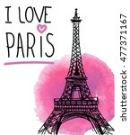 i love paris. card   poster  ... | Shutterstock .eps vector #477371167