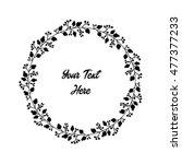 hand drawn vintage floral round ...   Shutterstock .eps vector #477377233