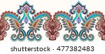 seamless horizontal border with ... | Shutterstock .eps vector #477382483