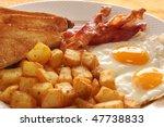 Breakfast Of Eggs  Bacon  Toas...
