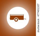car trailer icon. concept...