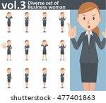 diverse set of business woman... | Shutterstock .eps vector #477401863