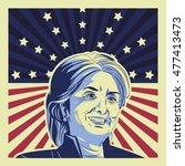 usa presidential election... | Shutterstock .eps vector #477413473