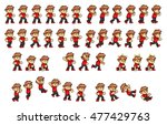 courageous boy game sprites.... | Shutterstock .eps vector #477429763
