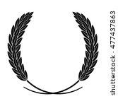 silhouette wreath of rice ears... | Shutterstock .eps vector #477437863