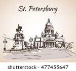 saint isaac cathedral and the... | Shutterstock .eps vector #477455647
