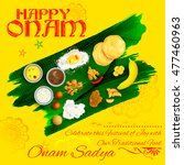 illustration of onam sadya... | Shutterstock .eps vector #477460963