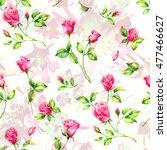 summertime garden flowers... | Shutterstock . vector #477466627
